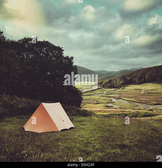 Camping in the great outdoors - Stock Image