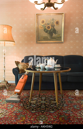 Retro living room - Stock Image