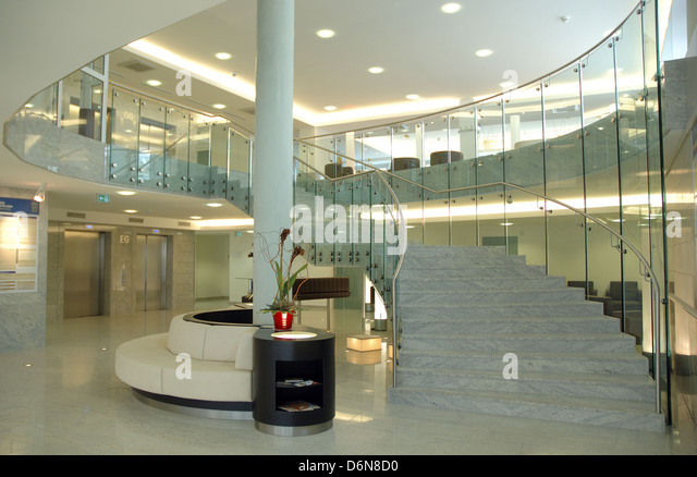 modern architecture,entrance hall - Stock Image