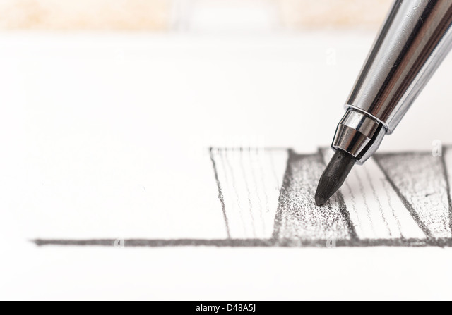 Architecture Drawing - Stock Image