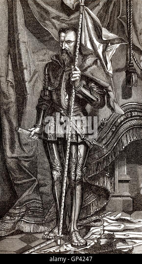 Henry I, Prince of Joinville, Duke of Guise, Count of Eu, called Le Balafré or Scarface, 1550-1588, a key figure - Stock-Bilder