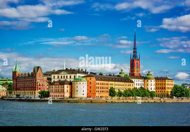 August 2016, cityscape of Stockholm (Sweden) - Stock Image