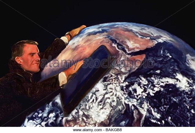 Environmental Cleanup - Stock-Bilder