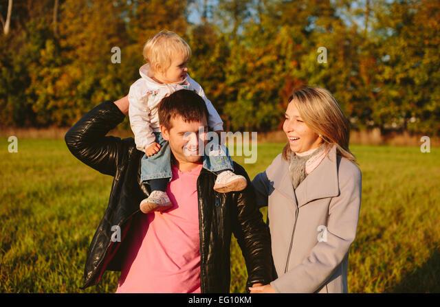 Family in the park - Stock-Bilder