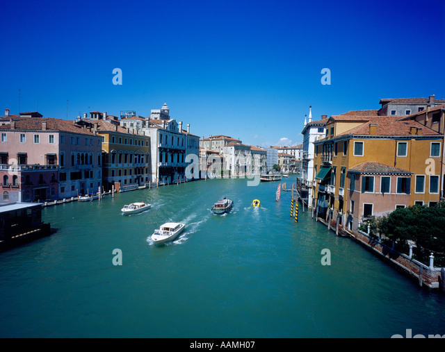 Canal Grande, Venice, UNESCO World Heritage Site, Italy,  Europe. Photo by Willy Matheisl - Stock Image