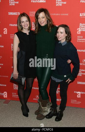 Park City, UT, USA. 23rd Jan, 2016. Tammy Blanchard, Allison Janney, Ellen Page at arrivals for TALLULAH Premiere - Stock Image