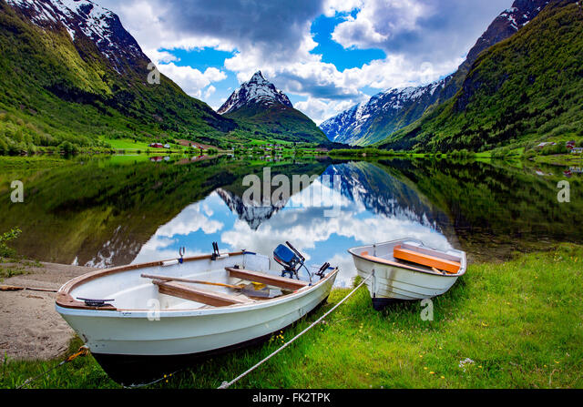 Beautiful Nature Norway natural landscape. - Stock Image