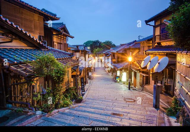 Kyoto Back street - Stock Image