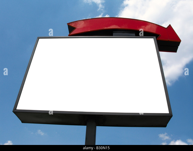 Blank sign advertisement sky - Stock Image