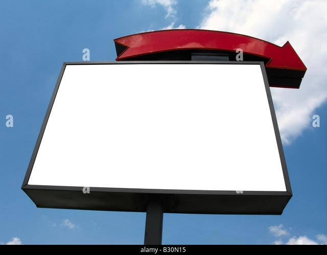 Blank sign advertisement sky - Stock Image