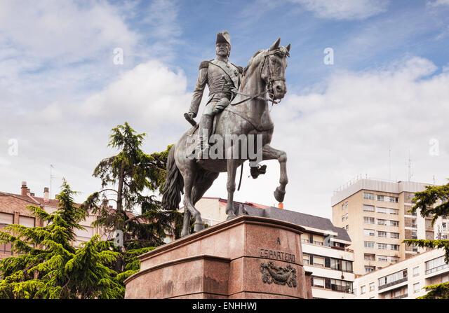 Statue of General Espartero, Logrono, La Rioja, Spain - Stock Image