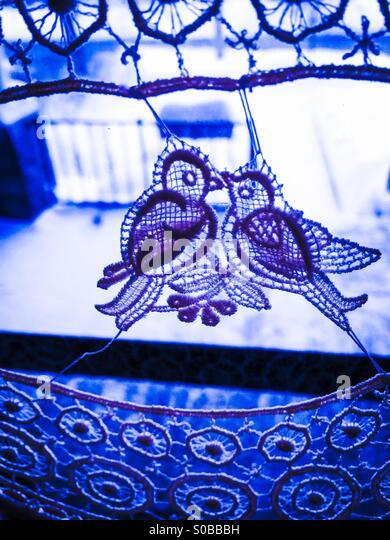 Blue lovebirds - Stock Image