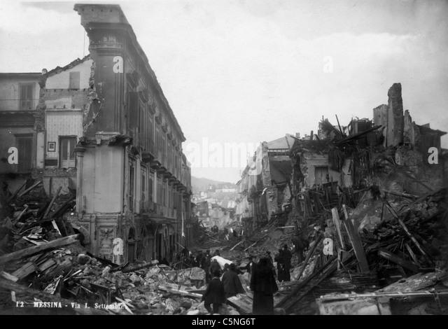 earthquake of Messina, Italy, 1908 - Stock Image