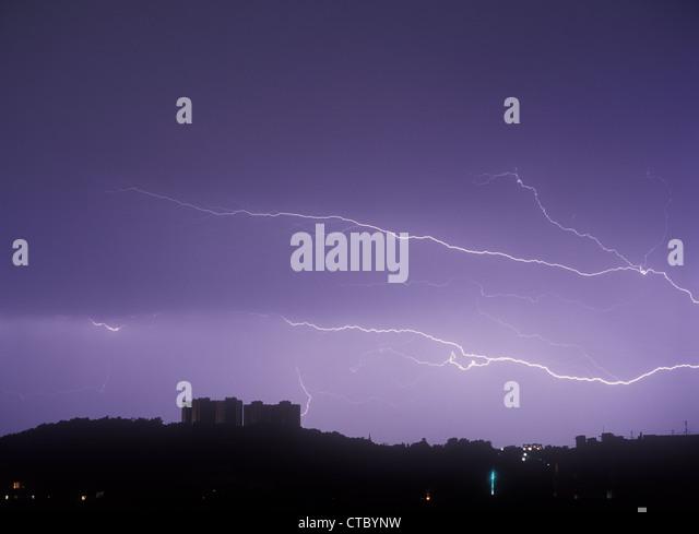 Lightning. - Stock-Bilder