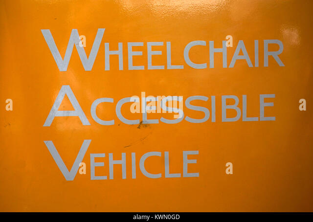 wheelchair access sign - Stock Image