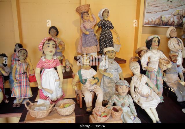 Curaçao Netherlands Antilles Dutch Willemstad Otrobanda Kurá Hulanda Museum anthropological doll exhibit - Stock Image