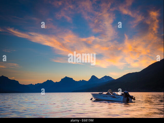 Lake McDonald in Glacier National Park, in Montana near the US-Canada border - Stock Image