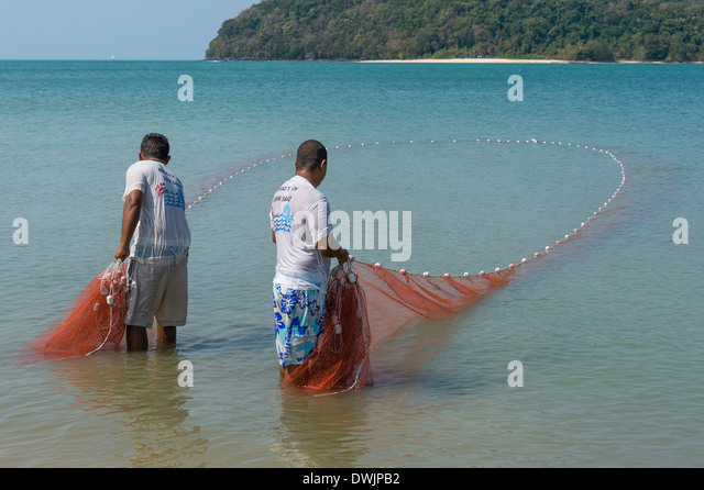 Fishermen on Langkawi - Stock Image