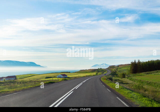 travel concept, background with beautiful road - Stock-Bilder