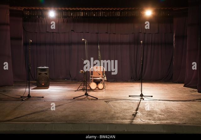 Empty stage - Stock Image