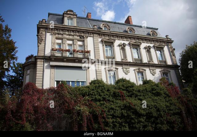 Bourgeois House near Pont de la Poste Strasbourg Alsace France 099835_Strasbourg Horizontal - Stock Image