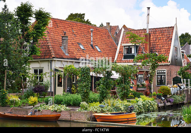 House in Edam, North-Holland, The Netherlands - Stock Image