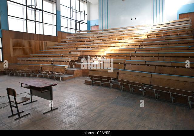 Empty lecture hall - Stock-Bilder