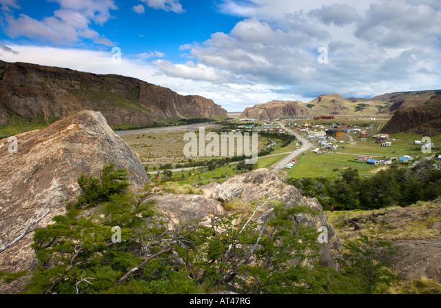 El Chalten village within Los Glaciares National Park, Argentina - Stock-Bilder