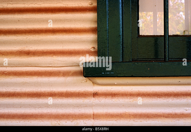 Corrugated iron, Australia - Stock-Bilder