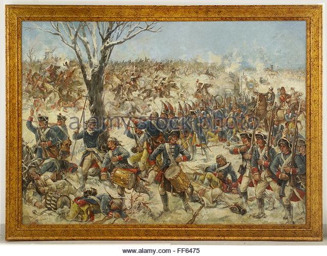 Battle of Leuthen, 1757 - Stock Image