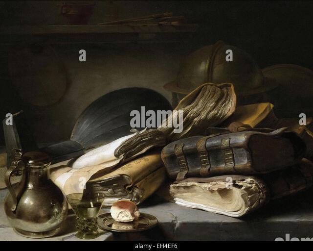 Jan Lievens  Vanitas Still Life - Stock Image