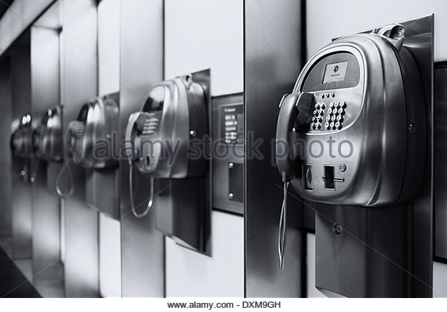 Switzerland, Zurich, Telephones at central station - Stock Image