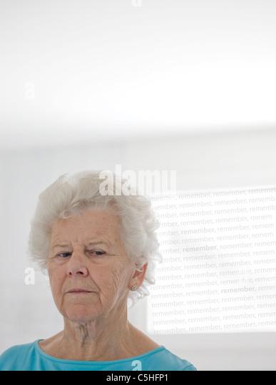 Elderly woman - Stock Image