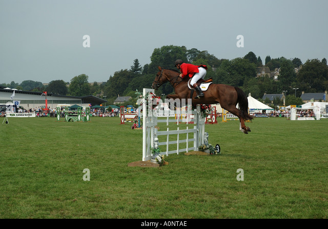 Show jumping event - Stock Image