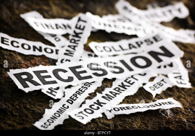Recession - Stock Image