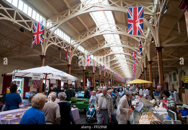 Interior Pannier Market  Barnstaple  Devon England  UK Europe - Stock Image