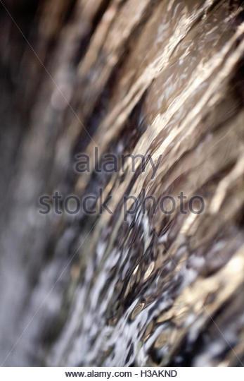 water running down - Stock Image