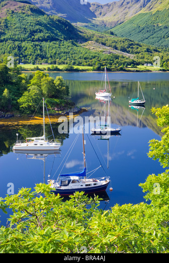 Bishops Bay, Loch Leven, Highland, Scotland, UK. - Stock-Bilder