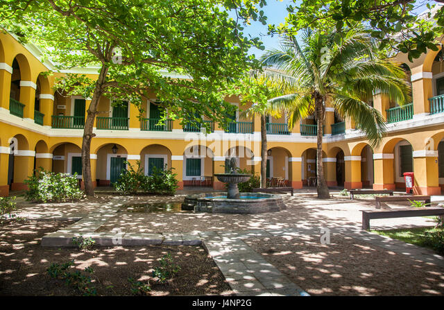 Courtyard in Old San Juan Puerto Rico - Stock Image