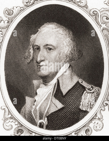 Horatio Lloyd Gates, 1727 – 1806. Retired British soldier who served as an American general during the Revolutionary - Stock Image
