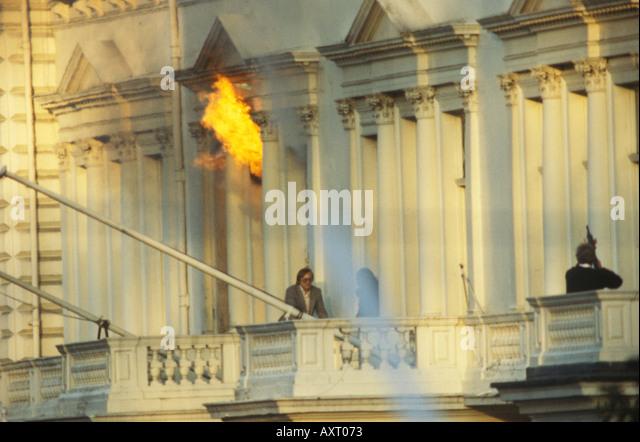 Iranian Embassy siege May 5th 1980 London UK HOMER SYKES - Stock Image