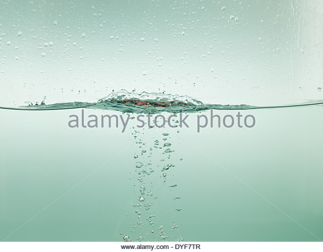 Water with bubbles - Stock Image
