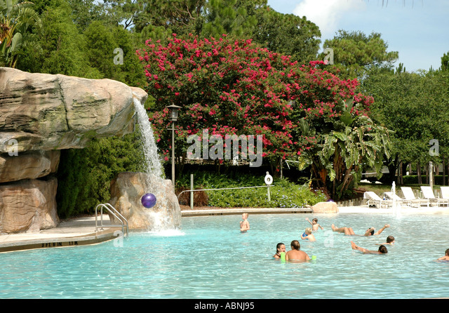 Tarpon Springs Florida Westin Innisbrook Resort Loch Ness Swimming Pool FL - Stock Image