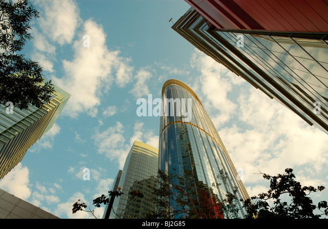Office buildings at Kowloon Bay district, Kowloon, Hong Kong, China - Stock-Bilder