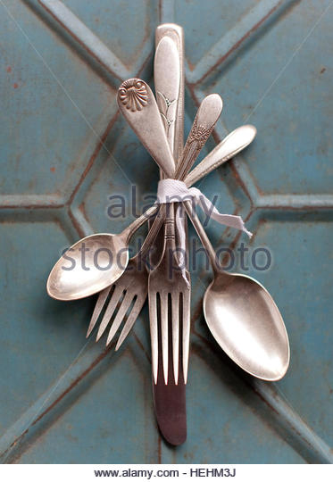 Vintage Silver - Stock Image