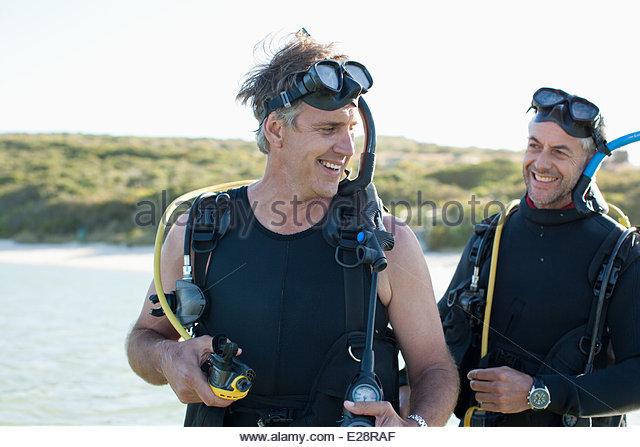 Men in scuba gear - Stock Image