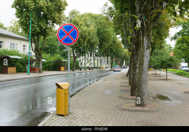 PALANGA, LITHUANIA - AUGUST 08,2015:  In the streets of Palanga. Palanga is the largest resort town in Lithuania. - Stock-Bilder
