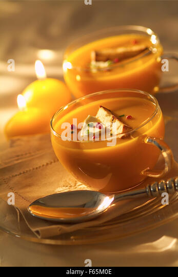 squash soup (topic: Provence) - Stock Image