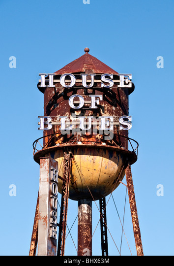 House of Blues Water Tower Downtown Disney  west Orlando Florida FL - Stock Image