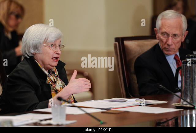 Washington, DC, USA. 22nd Oct, 2014. File photo taken on Oct. 22, 2014 shows U.S. Federal Reserve Chair Janet Yellen - Stock Image